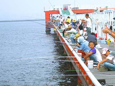 尼崎市海づり公園海上釣堀・桟橋画像