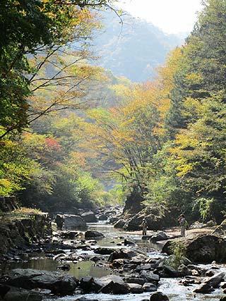 神流川オフシーズンにじます釣り場写真