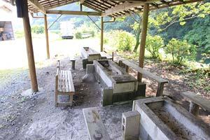狩川渓谷ます釣り場BBQスペース例写真