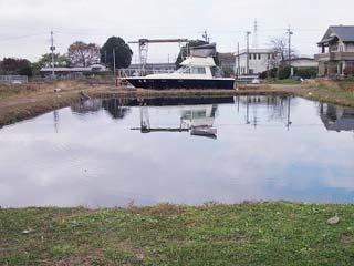関根養魚場えさ池写真
