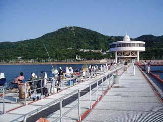 神戸市立須磨海づり公園海上釣堀・桟橋画像