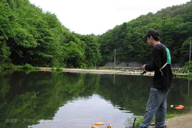高萩ふれあいの里フィッシングエリア2号池写真