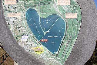 谷中湖谷中湖地図写真